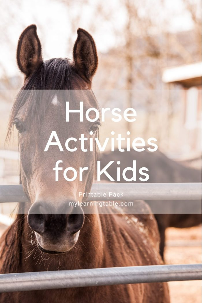 Horse Activities for Kids printable pack for unit study