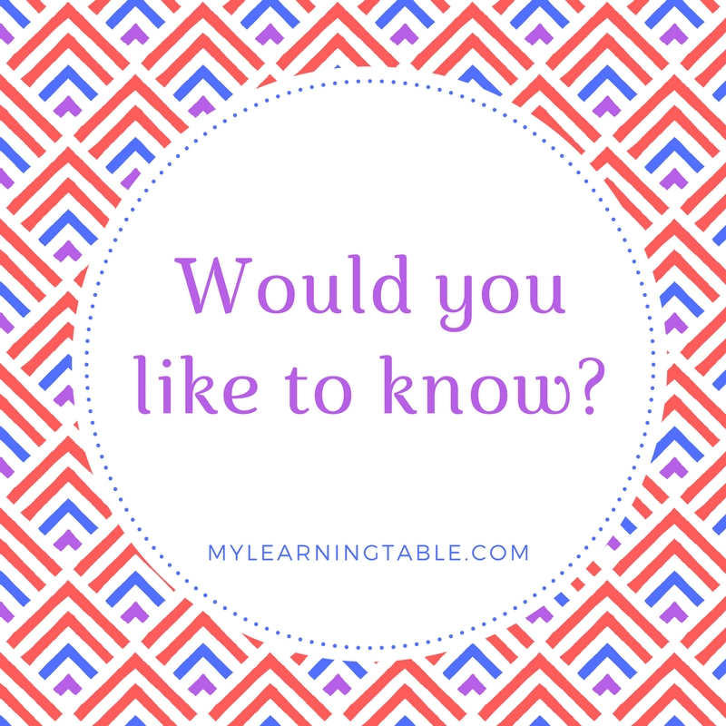 would you like to know collection mylearningtable.com