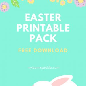 Easter Printable Pack mylearningtable.com