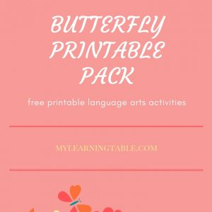 Butterfly Printable Pack--free download at mylearningtable.com