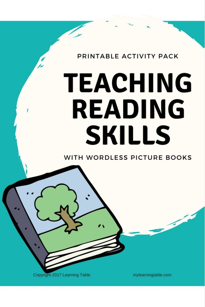Teaching Reading Skills With Wordless Picture Books Printable Pack for Teachers (Preschool, Kindergarten, Elementary)