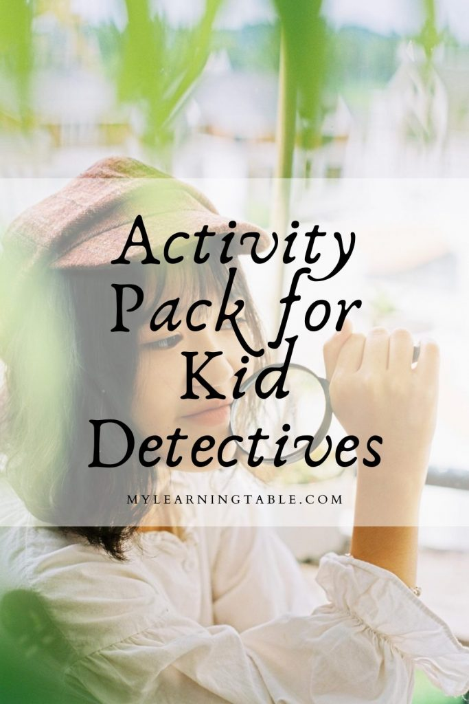 Printable activity pack for kid detectives
