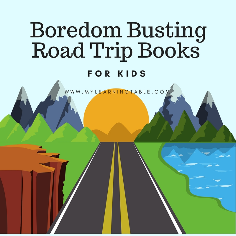 The best boredom busting road trip books for kids, take along these ideas when you travel.