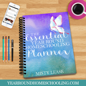 homeschool planner for a year-round schedule mylearningtable.com