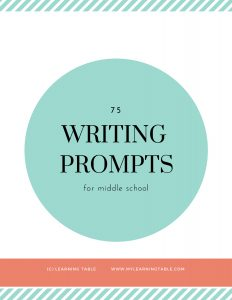 Homeschool successfully: 75 writing prompts for middle school