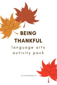 Being Thankful Activity Pack