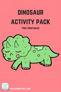 Free printable dinosaur activity pack