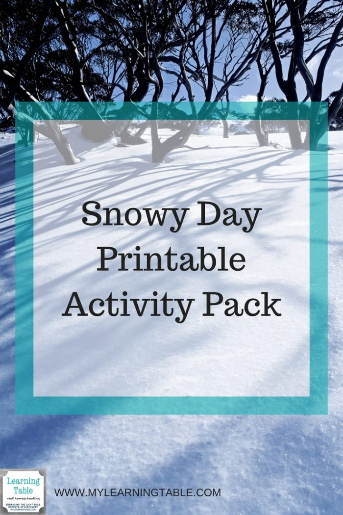 This printable pack includes Snow Books for Kids Library Checklist, Hands-on Snow Book Activities, Copywork, Writing Prompts, and Snow Themed Notebook Pages. (Elementary, Middle School)