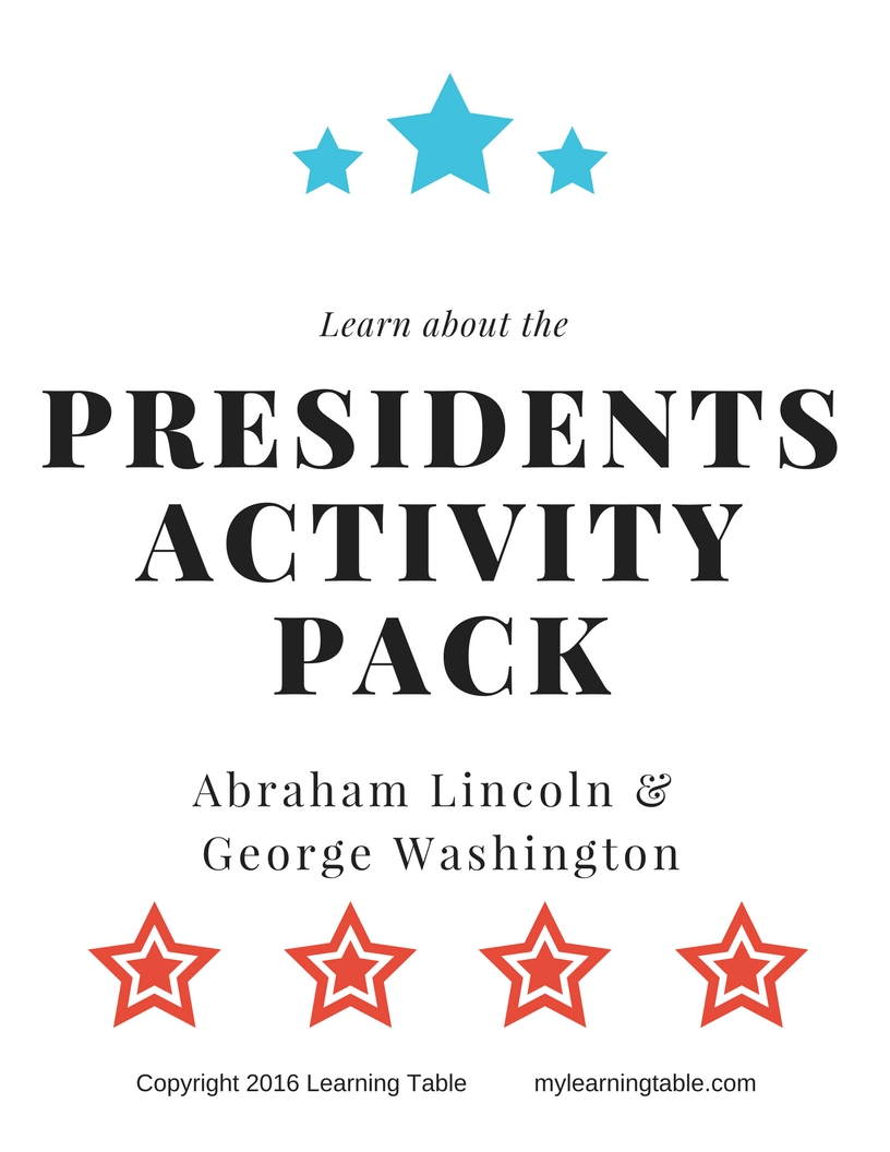 presidents activity pack  u2013 learning table