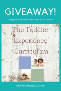 Enter for a chance to win a full preschool homeschool curriculum!