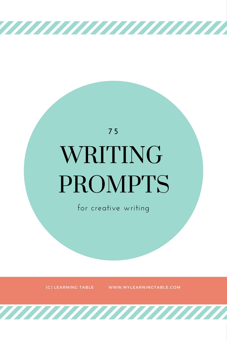 This collection includes 75 thoughtful writing prompts to inspire tweens and teens for several months of journaling. (middle school, high school)