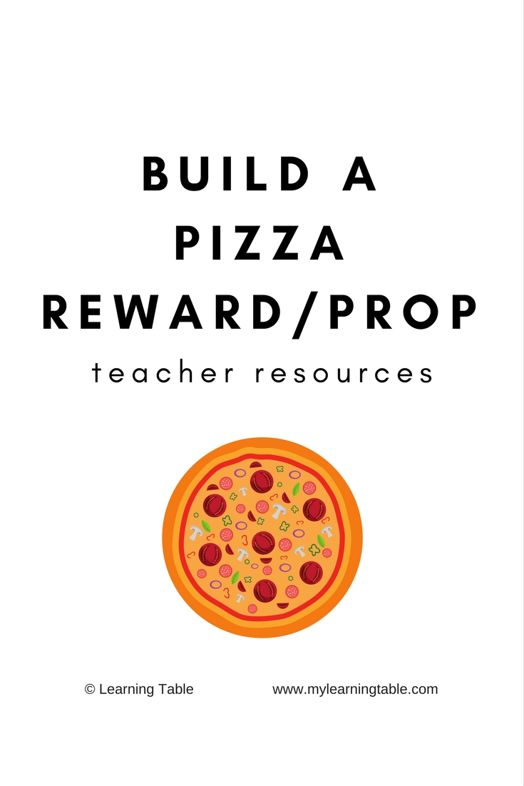 picture relating to Printable Pizza Toppings named Create a Pizza Gain/Prop: Trainer Elements