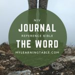 As a writer who is instinctively attracted to a good notebook, the NIV, Journal the Word Reference Bible more than meets my criteria as the perfect Bible for me. It is also a wonderful resource for our homeschool Bible studies, with space on each page for note-taking.