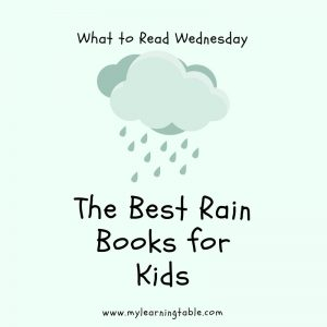 This week, we're featuring some of our favorite rain books for kids. Does your child love weather? Or are they afraid of rain and storms? Either way, these books are sure to pique their interest and calm their anxiety about the changes in the air. Once you understand something, I think it makes it less scary and more interesting. #homeschool #weather #unitstudy #teacher
