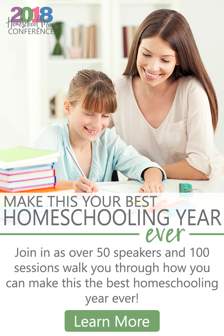 You can still register for the Homeschool Mom Conference, but only for a few more days! There is a lot of buzz surrounding this conference, and attendees are raving about the sessions and workshops. You get lifetime access, but only while registration is open. You can register at my referral link: https://homeschool-moms-conference.teachable.com/?affcode=219330_srquxcdo