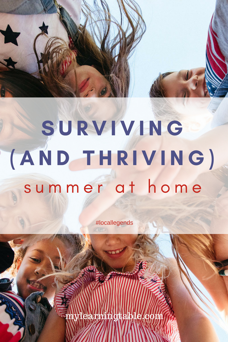 "Summer days really are fleeting, and the school year begins all-too-soon. So make the most of unstructured time and do more than just survive summer--THRIVE it! Check out our summer list of playtime essentials for ideas, and if all else fails, declare ""NAP TIME!"" I guarantee the kids will go running outside! ;)"