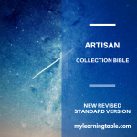 The NRSV Artisan Collection Bible is a beautiful journaling Bible with an artist-created cover desing.