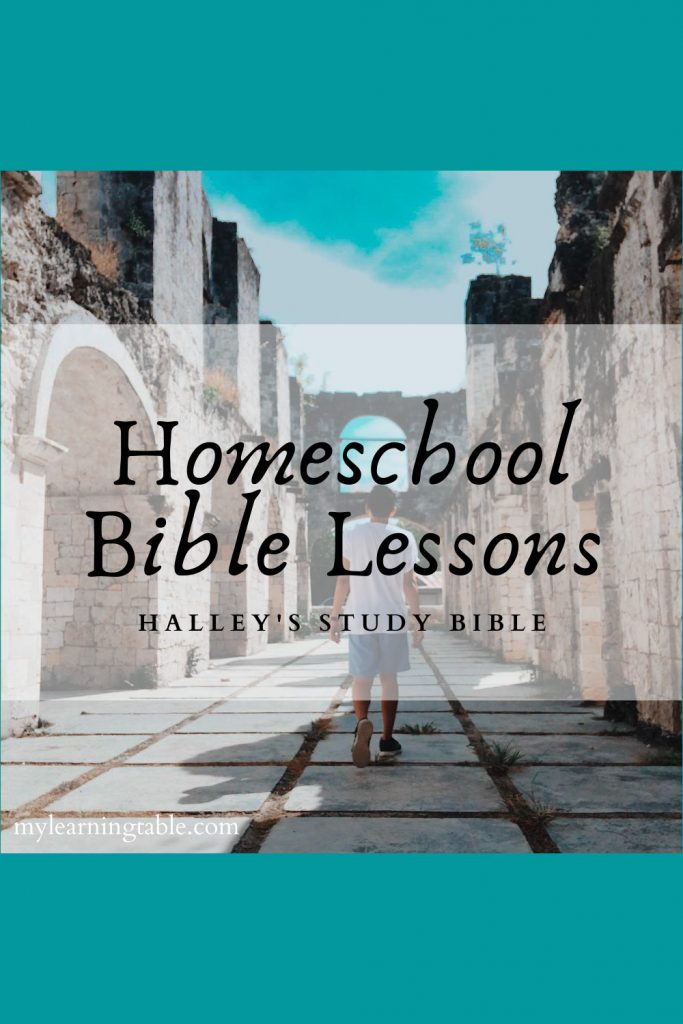 Homeschool Bible Lessons with Halley's Study Bible