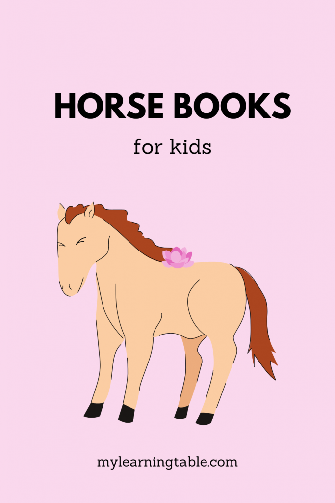 Horse books for kids & free printable activity pack for elementary and middle school ages.